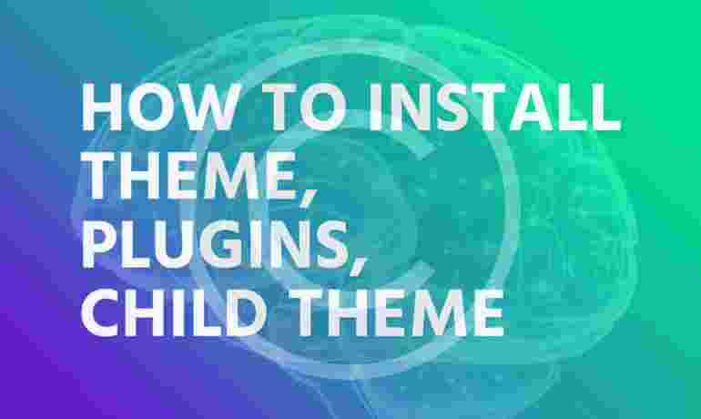 How to install theme, plugins